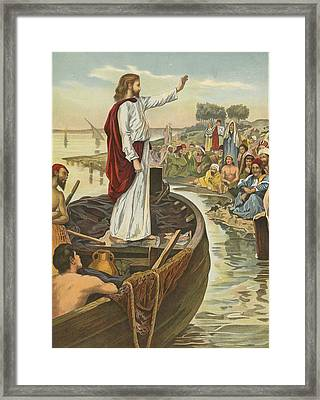 A Sermon  Framed Print by English School