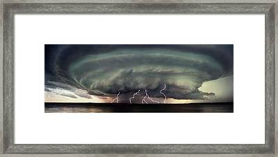 A Severe Storm Framed Print by Don Hammond