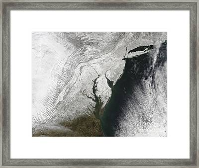 A Severe Winter Storm Along The United Framed Print by Stocktrek Images