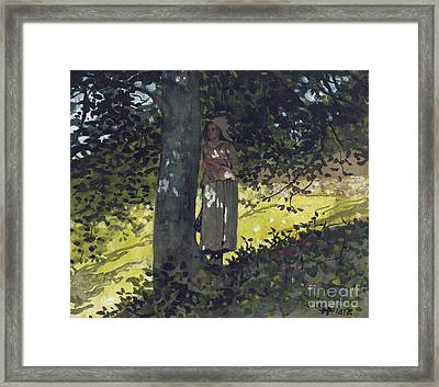 A Shady Spot Framed Print
