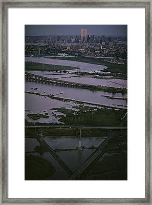 A Shot Of The Meadowlands And The New Framed Print by Melissa Farlow