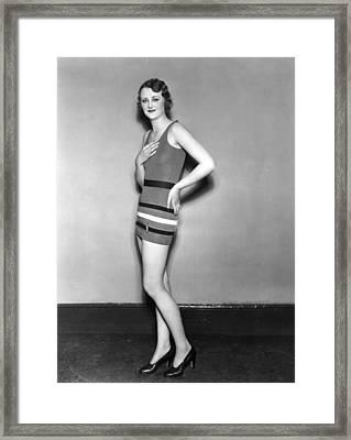 A Showgirl Framed Print by Sasha