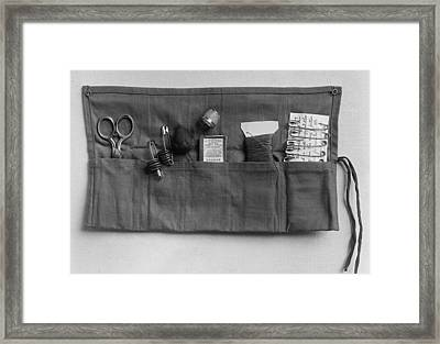 A Simple Sewing Kit, Provided Framed Print by Everett