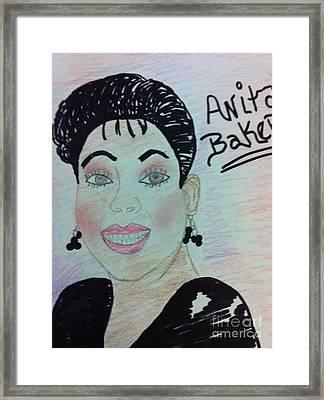A Singer Anita Baker Framed Print
