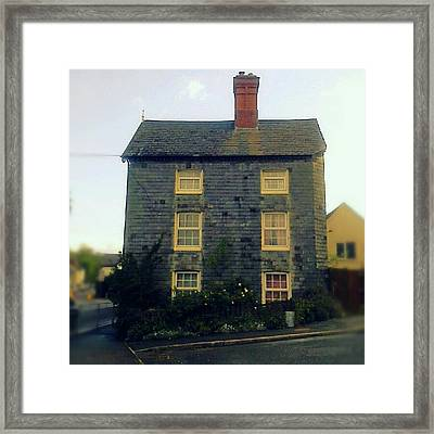 A #slate -covered #house In #newtown Framed Print