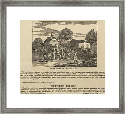 A Slave Coffle Setting Framed Print by Everett