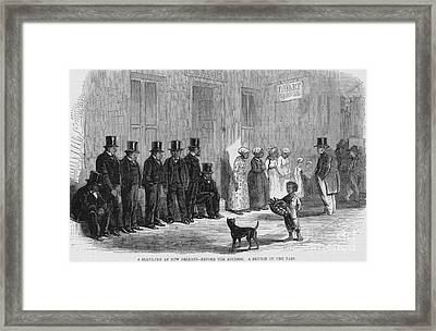 A Slave-pen At New Orleans Before Framed Print by Photo Researchers