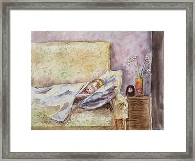 A Sleeping Toddler Framed Print by Irina Sztukowski