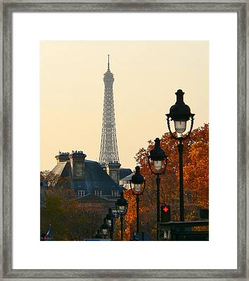 Framed Print featuring the photograph A Slice Of Paris by Eric Tressler