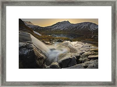 A Small Creek Running Framed Print