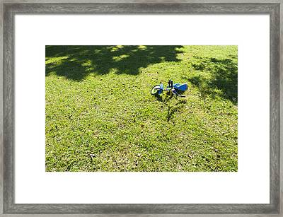 A Small Two Wheeled Decorated Childs Framed Print