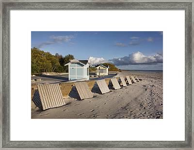 A Small Wooden Wall On Parnu Beach Framed Print by Jaak Nilson