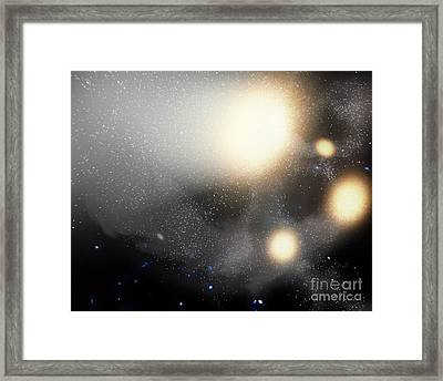 A Smash-up Of Galaxies Framed Print by Stocktrek Images