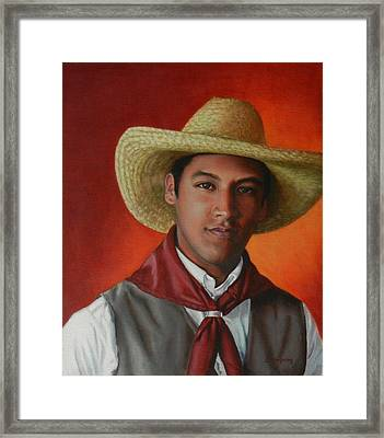 A Smile From The Andes Framed Print