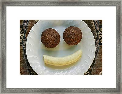 A Smiling Breakfast Of Muffins Framed Print