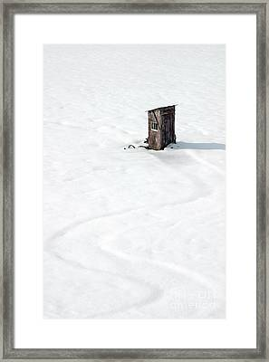 A Snowy Path Framed Print by Karen Lee Ensley