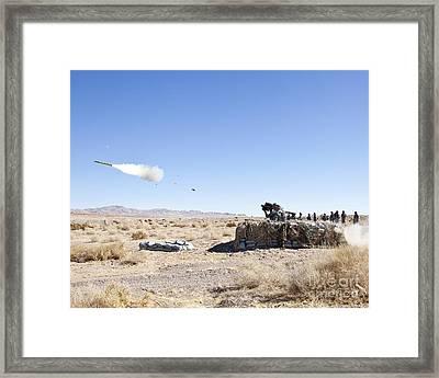 A Soldier Fires The Fim-92 Stinger Framed Print