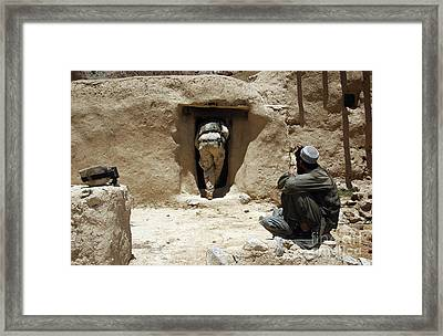 A Soldier From The National Guard Framed Print