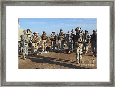 A Soldier Teaches How To Properly Framed Print
