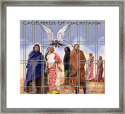 A Song For The Caged Birds Of Mauritania Framed Print