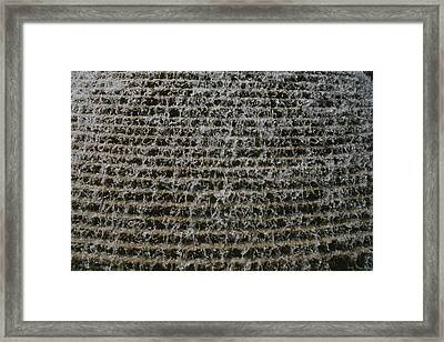 A Soothing Terraced-waterfall Fountain Framed Print by Stephen St. John