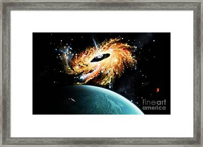 A Space Shuttle Tries To Avoid Framed Print by Brian Christensen