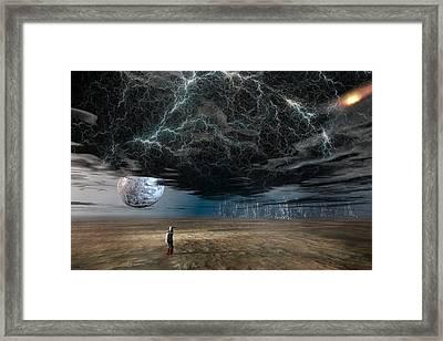 A Space Traveler In An Alien World Framed Print