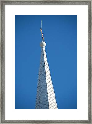 A Spire In New England Framed Print by Dickon Thompson