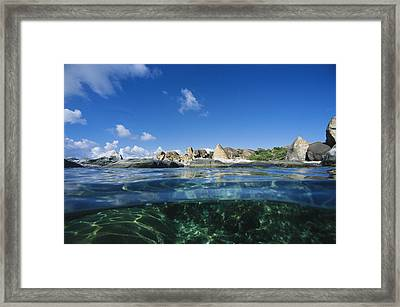 A Split Image Of The Baths, Virgin Framed Print by Heather Perry