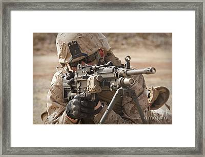 A Squad Automatic Weapon Gunner Framed Print by Stocktrek Images