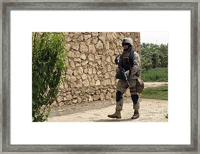 A Squad Automatic Weapon Machine Gunner Framed Print