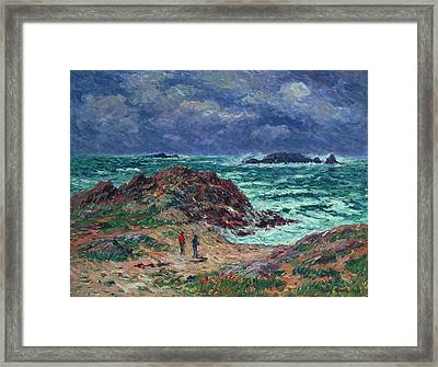 A Squall Framed Print by Henry Moret