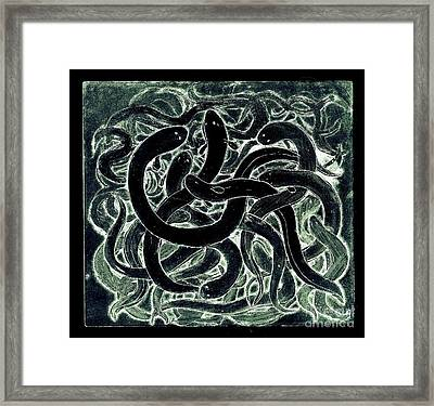 A Squirm Of Eels Framed Print by Nareeta Martin