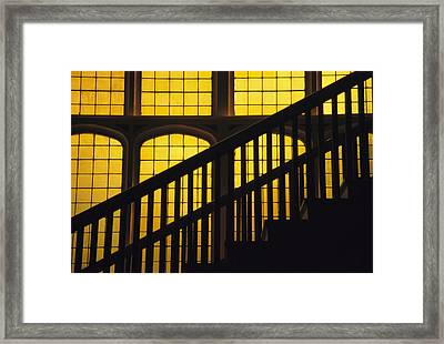 A Staircase In Silhouette Framed Print by David Evans