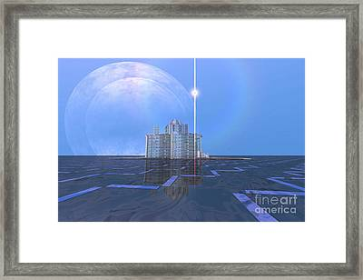 A Star Shines On Alien Architecture Framed Print by Corey Ford