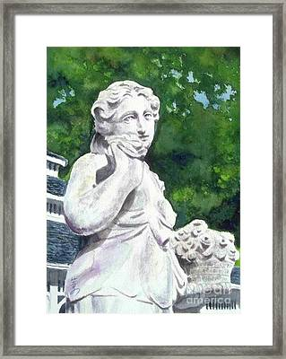 Framed Print featuring the painting A Statue At The Wellers Carriage House -1 by Yoshiko Mishina