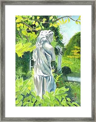 Framed Print featuring the painting A Statue At The Wellers Carriage House -3 by Yoshiko Mishina
