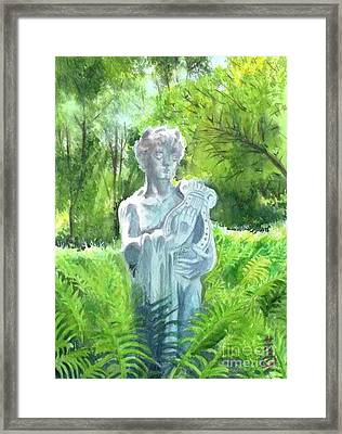 Framed Print featuring the painting A Statue At The Wellers Carriage House -4 by Yoshiko Mishina