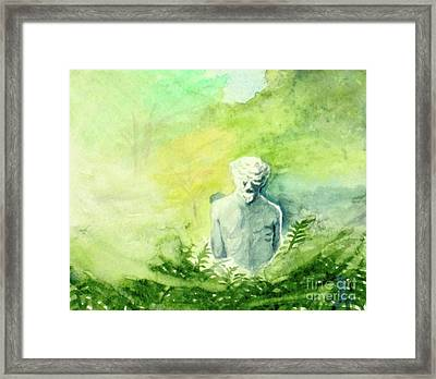 Framed Print featuring the painting A Statue At The Wellers Carriage House -5 by Yoshiko Mishina