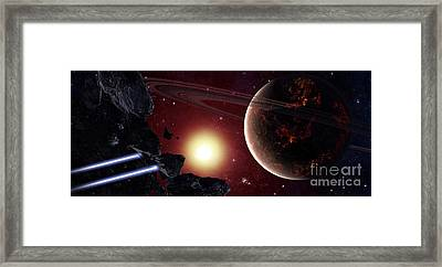 A Stealth Fighter En Route To Hades Framed Print by Frieso Hoevelkamp