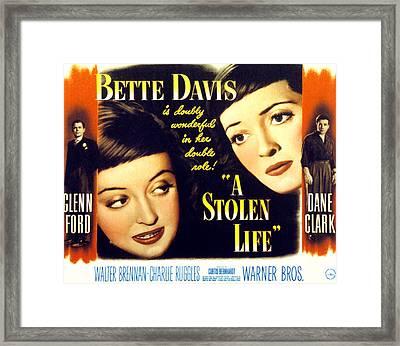 A Stolen Life, Glenn Ford, Bette Davis Framed Print by Everett