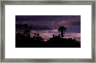 ..a Storm At Your Door Steep.. Framed Print by Adolfo hector Penas alvarado