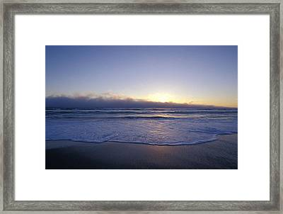 A Storm Cloud Front On The Horizon Framed Print by Jason Edwards