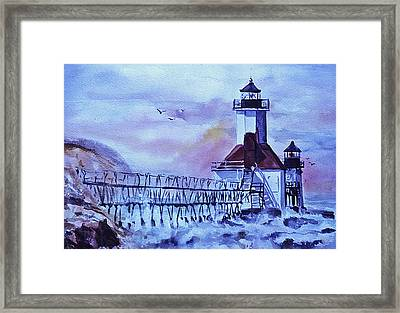 A Storm Is Brewing Framed Print by Catherine Foster