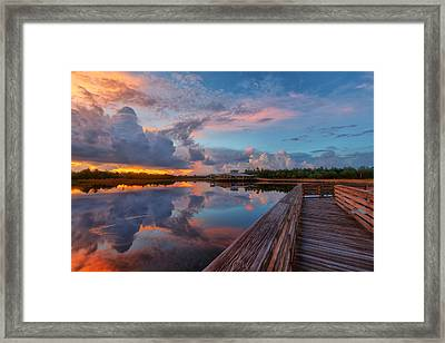 A Storm Is Brewing Framed Print by Claudia Domenig