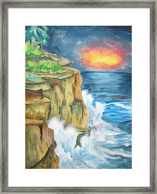 A Storm Is Brewing On The Great Lakes - Wcs Framed Print by Cheryl Pettigrew
