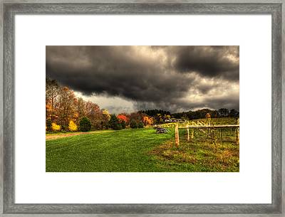 Storm Is Brewing Framed Print