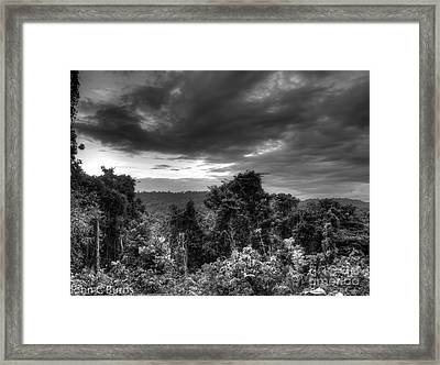 Framed Print featuring the photograph A Storm Is Coming by John Burns
