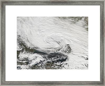 A Storm Over The Black Sea And The Sea Framed Print