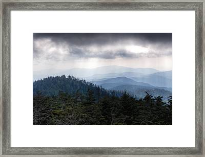 A Storm Over The Smokys Framed Print by Pixel Perfect by Michael Moore